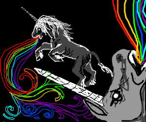 Unicorns vomit rainbows