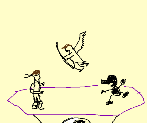 Solid Snake vs Pit vs Mr. Game & Watch.