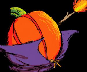 "Wizard pumpkin: ""Accio Firebolt!"""