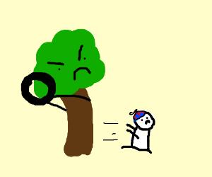 Tree uses tire to kill a kid