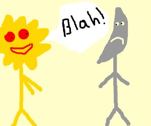 Sun man talking ro Moon man.