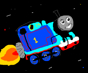 Thomas the train is now a rocket ship