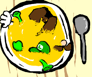 Shrek and Luigi soup!