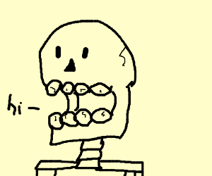 And then a skeleton popped out