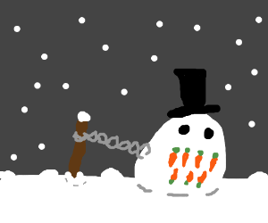 snowman edition of Chain Chomp