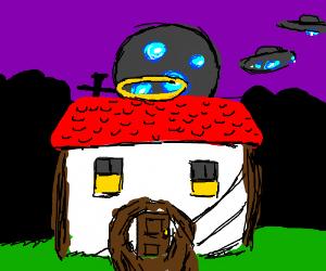 Aliens coming to jesus house