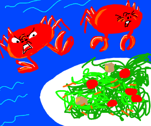 Crabs don't like salad