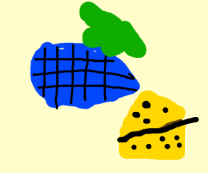 Blue waffle with vomit & cheese.