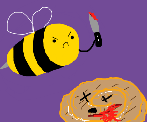Bee takes revenge on honey buns