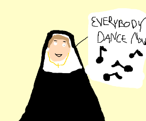 Saggy nun sings
