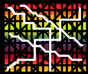 Postmodern map of a metro system