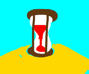 Sand keeper time thing with blood for sand