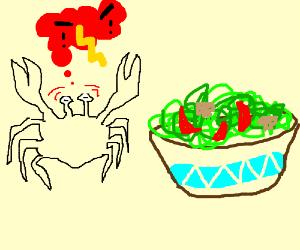 Crabs hate salad