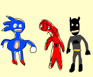 Sanic meets Spoderman and Bodmon