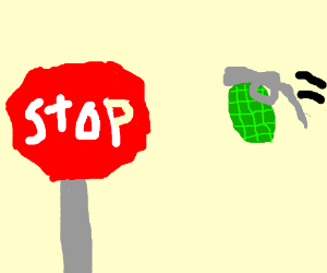 Stopping a grenade
