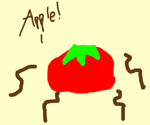 worms are like YES! AN APPLE!