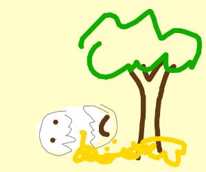 Humpty Dumpty scrambled himself on a tree...