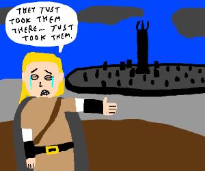Hobbits have gone to Isengard, Legolas is sad