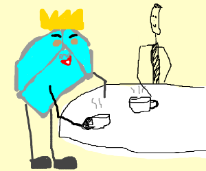 The Ice King and Slender Man have a Tea Party