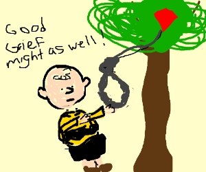 Charlie Brown attempts suicide