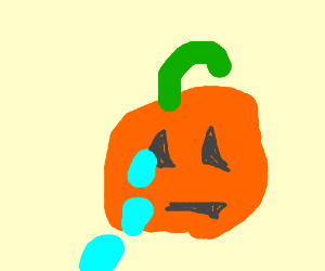 Possessed pumpkin cries