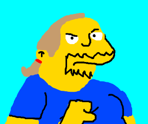 Simpsons Comic Book Guy gives a thumbs down