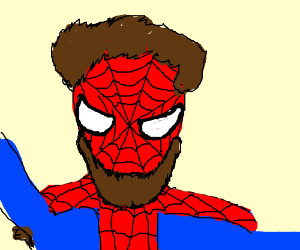 Hairy Spider-Man