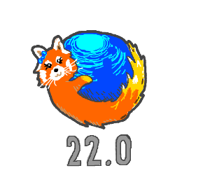 Firefox version 22 is female