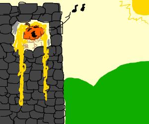 Jack-O- Punzel Singing out the window