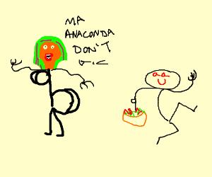 Nikki Minaj gets her salad tossed