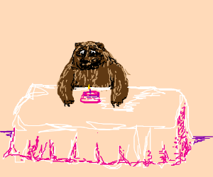 Bear is upset that his Birthday Cake is small.
