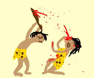An Caveman Kills a girl