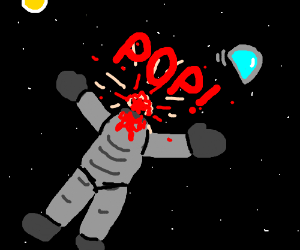 Never take your suit off in space