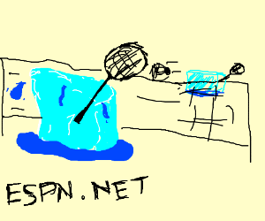 Watching ice sports online.
