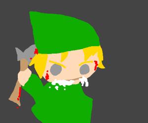 Rabid Link butchers Zelda