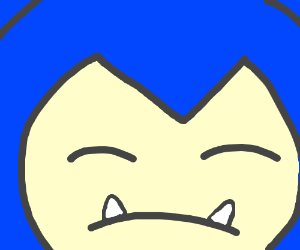 A close-up of Snorlax's face