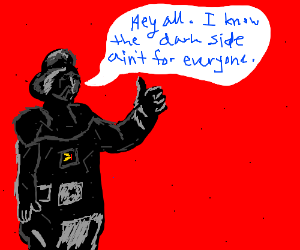 Darth Vader was actually a very agreeable man