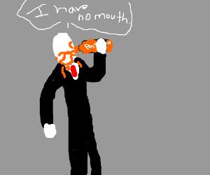 Slenderman Drinking A Faygo Drawception