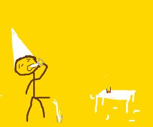Man Drinking Maggot Juice (ew)