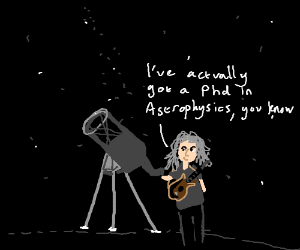 Brian May in the night sky