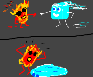 Fire meets ice