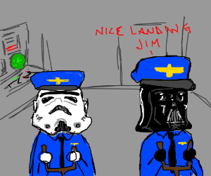 Darth Vader compliments his crew