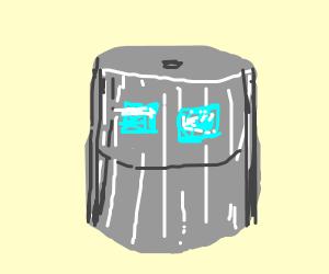 Sky drawings on a steel barrel