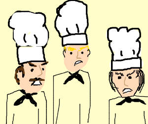 swarm of angry chefs