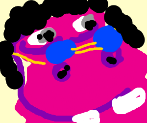 badass hippo with glamorous shades raises roof