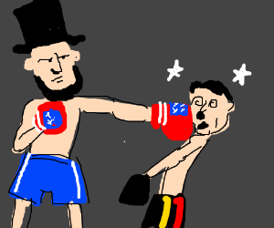 Image result for abraham lincoln punch hitler