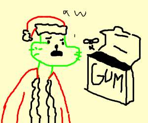 Grinch can't have gum because it's all gone.