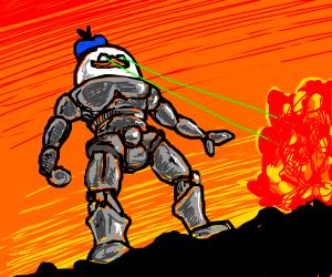 Duck laser war