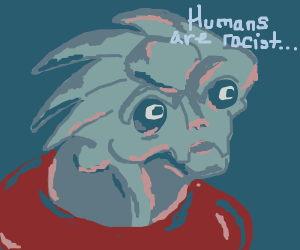 Turian is upset; thinks all humans are racist