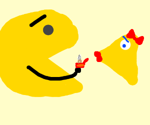 Pac-Man Proposes to his missing piece
